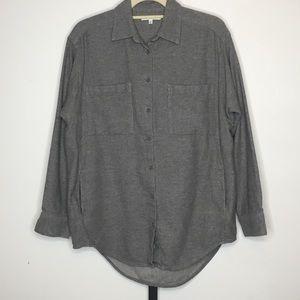 Madewell Flannel Sunday Shirt Womens Gray M